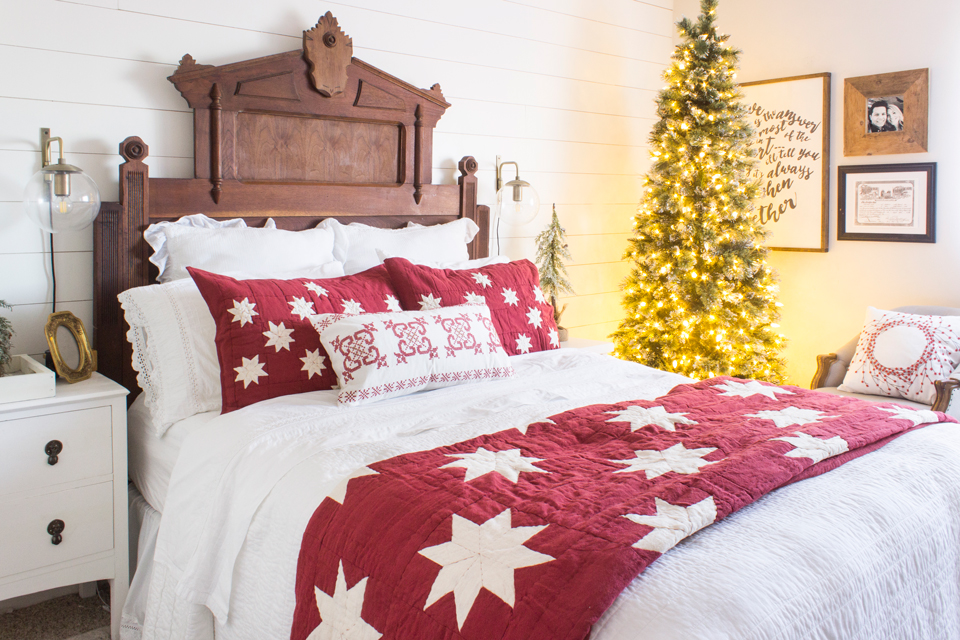 this was just the motivation i needed and i hope you might consider giving your bedroom a little love this holiday season - Christmas Bedroom
