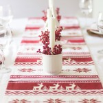 A Simple Red & White Christmas Tablescape