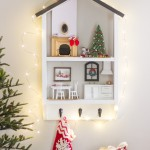 DIY Holiday Dollhouse Shelf