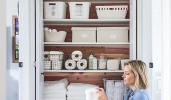 A Cedar Linen Closet Makeover