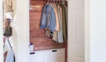 Cedar Coat Closet Makeover