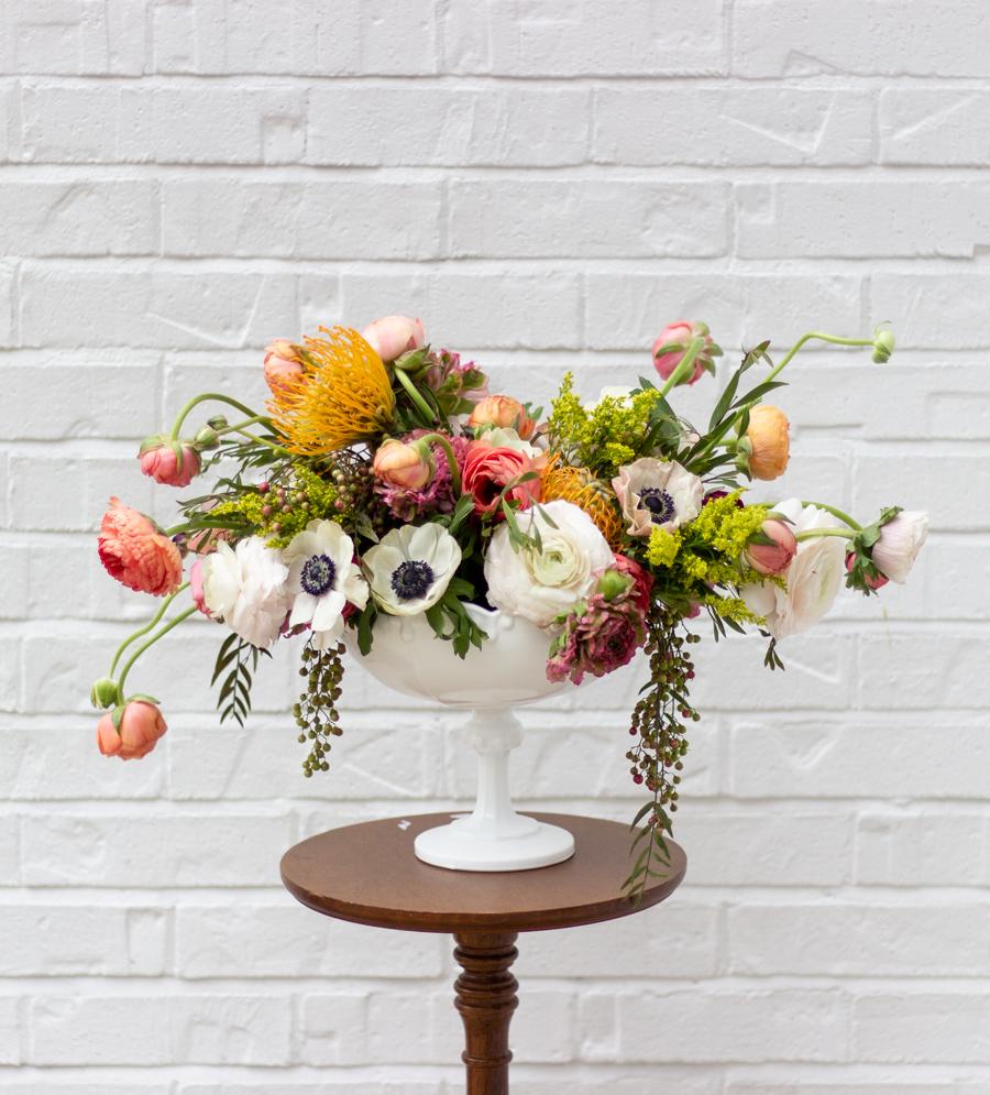 Creating a Gorgeous Modern Flower Arrangement - Shades of ...