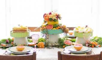 Tips to Create a Spring Citrus Tablescape + Tractor Supply Giveaway