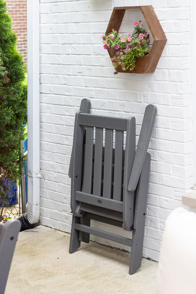 Folding outdoor chair by Polywood