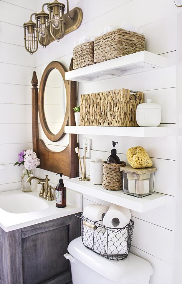 Diy Floating Bathroom Shelves Shades