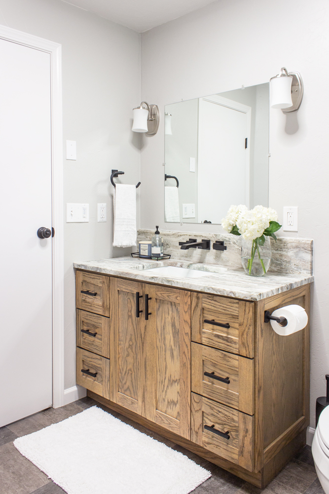 Rustic Modern Bathroom Vanity Build Plans Shades Of Blue Interiors