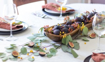 An Autumn Tablescape with Figs