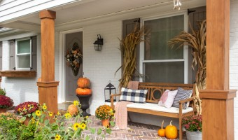 Decorating a Front Porch for Fall When You Don't Have Steps