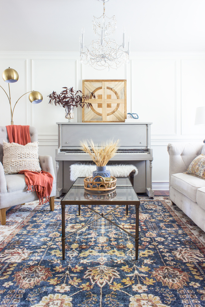 Fall Decorating Ideas for a Living Room - Shades of Blue Interiors