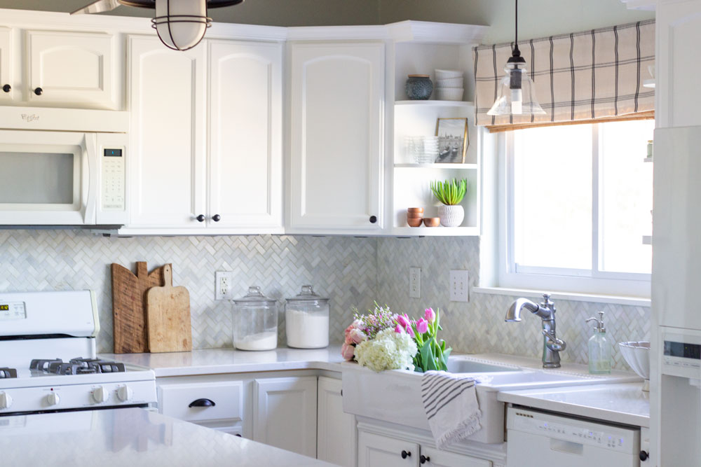 Why I Switched From Butcher Block Counters To Quartz Shades Of Blue Interiors