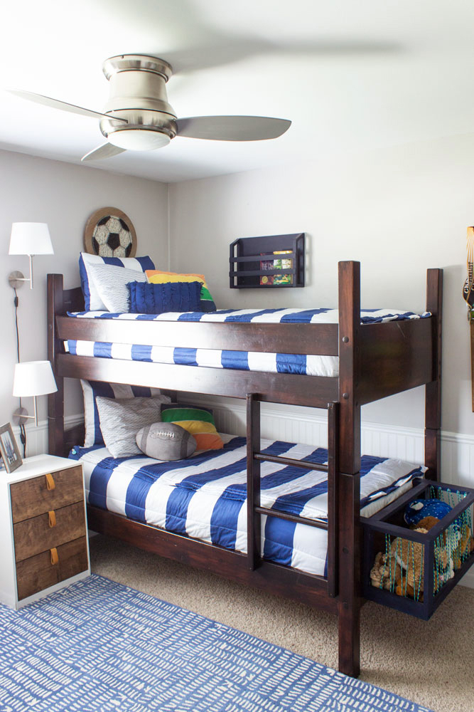 Bedding for Bunk Beds - Shades of Blue Interiors